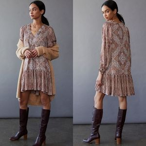 NWT Anthropologie Sabia Flounce Tunic Dress
